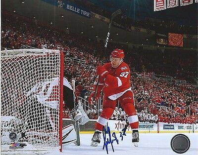 Evgeny Svechnikov Signed Detroit Red Wings Shootout Game Winning Goal 8x10 Photo