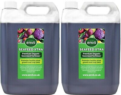 Envii SeaFeed Xtra – Organic Liquid Seaweed Fertiliser Plant Feed Food - 10L