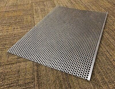 20 Ga Perforated 316 Stainless Steel Sheet 0.0375 X 15.25 X 10.5 - 316 Hole