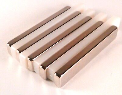 Neodymium Permanent Bar Magnet Rare Earth 60mm X 10mm X 5mm Diy Fridge
