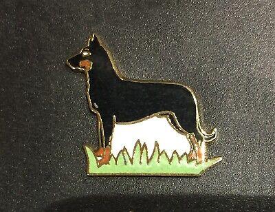 Pin's lapel pin chien dog berger allemand ou dobermann