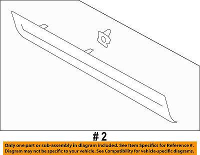 Infiniti NISSAN OEM 08-10 M35 Rear Bumper-Molding Strip Right 85074EJ70A
