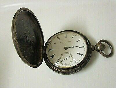 Vintage Elgin Coin Silver Key Wind/Key Set No Key. 18s 11j Runs