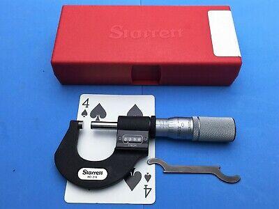 New Starrett 0-1 Digital Micrometer In Case .0001 Carbide Faces New Nos