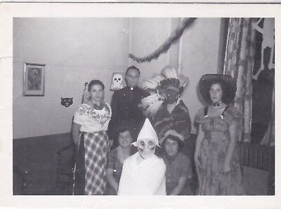 Vintage 1950's photo of a Halloween party #1 (1950s Halloween Party)