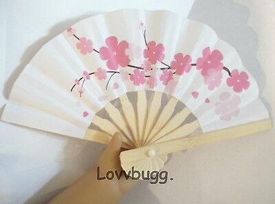 "Lovvbugg Mini Cherry Blossom Fan for 18"" American Girl Doll Accessory"
