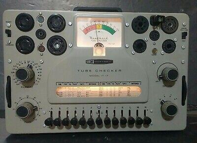 Heathkit It-17 Vintage Tube Tester Checker Powers Up Please Read