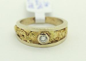 9ct Gold Nugget Ring with 18ct Gold Mandurah Mandurah Area Preview