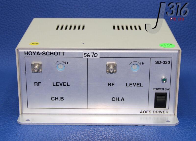 5670 HOYA-SCHOTT ACOUSTIC-OPTIC FREQUENCY SHIFTER (AOFS) DRIVER SD-330