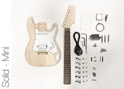 DIY Electric Guitar Kit - Mini Strat Style Build Your Own Guitar