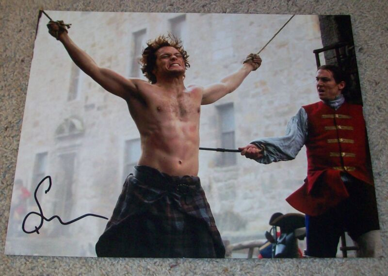 SAM HEUGHAN SIGNED OUTLANDER 11x14 PHOTO B w/EXACT PROOF AUTOGRAPH JAMIE FRASER