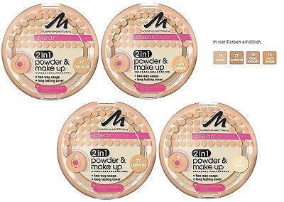 MANHATTAN Clearface 2in1 Powder & Make Up ++Farbwahl++ NEU&OVP