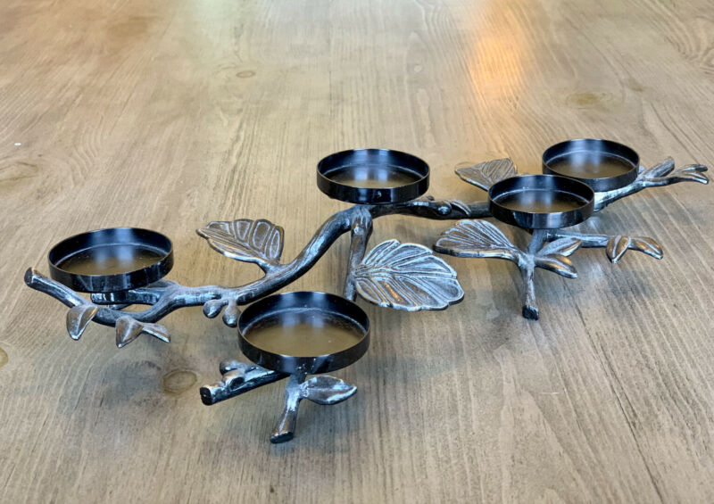 Bath And Body Works Slatkin Co. Metal Mini Candle Leaf Candle Holder NEW! RARE