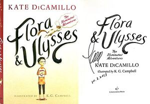 Kate DiCamillo~SIGNED&DATED~Flora & Ulysses~1st/1st+PHOTOS!! 2014 Newbery Award!