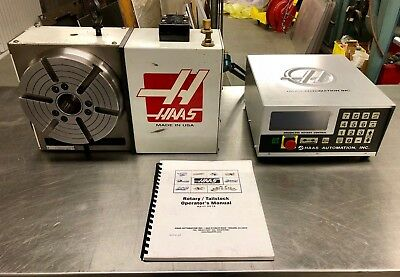 Haas Hrt210h 4th Axis Brushless Rotary Table Indexer W Controller Box