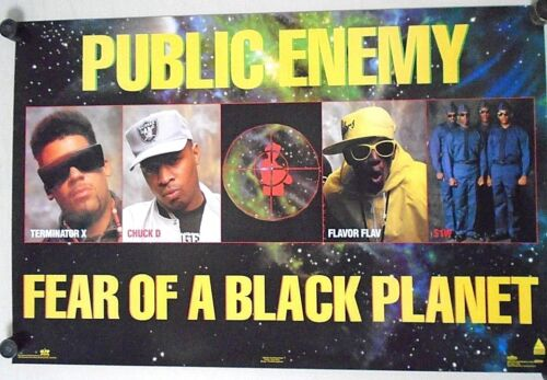 Public Enemy / Orig. Poster #8096 Fear of a Black Planet / Exc.+ new cond. 23x35