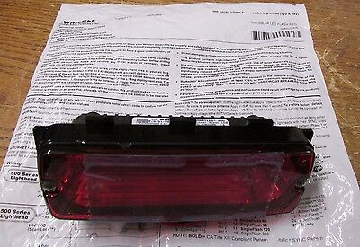 New Nos Whelen 500 Series Linear Lin6 Red Led - Red Lens 50r02zrr