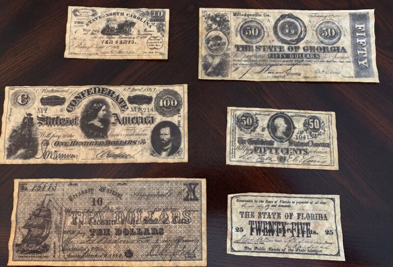Confederate Currency Parchments - 3rd Set