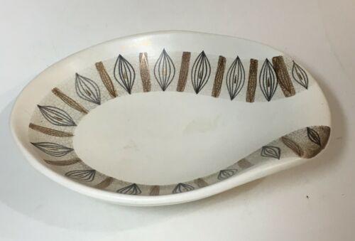 Sascha Brastoff dish - California pottery abstract mid-century bowl signed