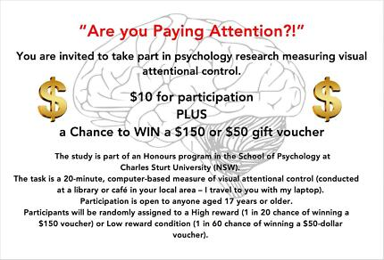 Wanted: Participants for psychology research