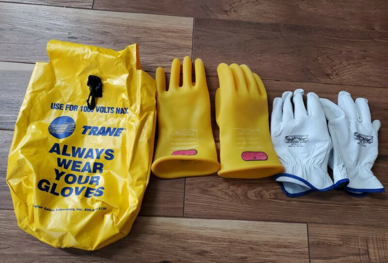 D120 Type I Class 0 Lineman Gloves 1000V Size 10