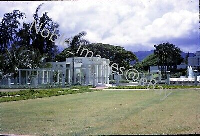 1965 Mormon Temple Grounds View Hawaii Transparency Slide