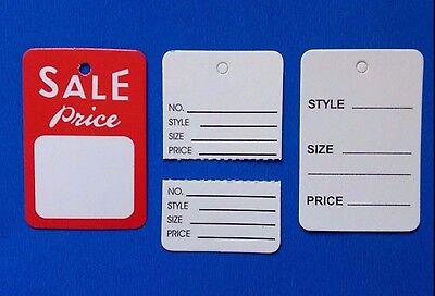 300 Pcs Variety Price Sale Tag Coupon Tag Clothing Price Tagging Gun Hang Label