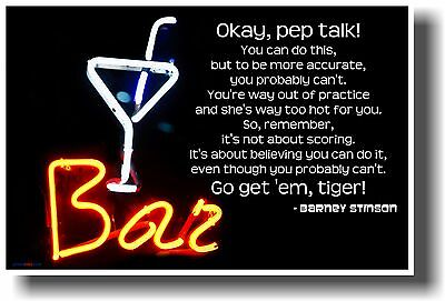 NEW FUNNY HUMOR POSTER – Okay Pep Talk – Barney Stinson – How I Met Your Mother