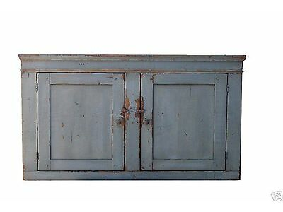 PRIMITIVE KITCHEN RUSTIC WALL CUPBOARD CABINET PAINTED COUNTRY FARMHOUSE PINE