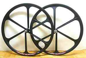 Fixed-Gear-Mag-Wheelset-700c-Rims-Front-Rear-Fixie-Bike-Single-Speed-Black