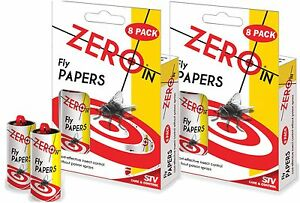2-x-8-pack-16-STV-ZERO-IN-FLY-TRAPS-PAPERS-COST-EFFECTIVE-INSECT-CONTROL