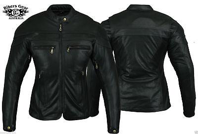 Australian Bikers Gear Ladies Sturgis Motorcycle LEATHER Jacket Clearance stock ()