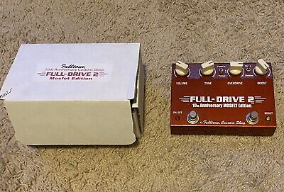 Fulltone Fulldrive 10th Anniversery Mosfet Edition MINT W/box and Paperwork