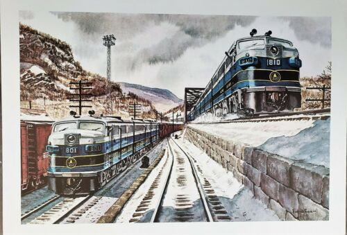 Baltimore and Ohio Pair of FA Diesels #801 & #810  Print by Howard Fogg