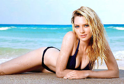APRIL BOWLBY sexy 4x6 glossy photo ~ candid #6 ~ TWO & A HALF MEN actress