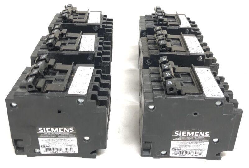 6 Siemens Q23050CT2 Circuit Breakers New Open Box 30-50A 4-Pole 120/240V 60 Hz