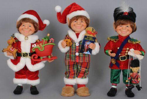 Elf Statue Set of 3 Christmas Figurines