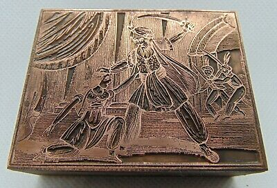 Vintage Printing Letterpress Printers Block Man Getting Ready To Chop Woman Head