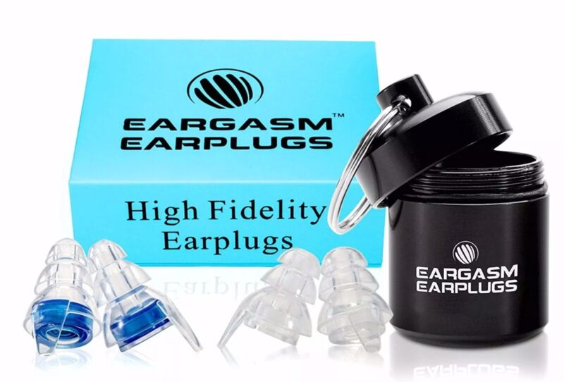 2 Sets of Pre-Owned Eargasm High Fidelity Earplugs Reduce Up to 21 Db NRR 16 dB
