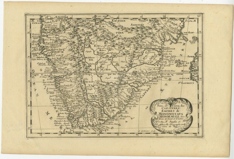 Antique Map of South Africa by De Winter (c.1680)