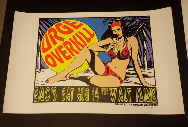 URGE OVERKILL KOZIK  SIGNED & #RD ORIG POSTER ( 31 OF 500 ) SEXY ARTWORK 1993