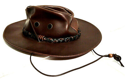 Henschel Leather Hat Hatquarters USA Size XL Brown Western