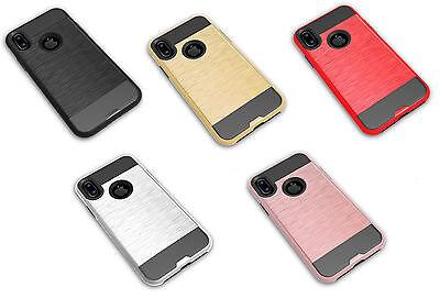 BEST SELLER Apple IPhone X (10) Hybrid Metal Brushed Shockproof Tough Case