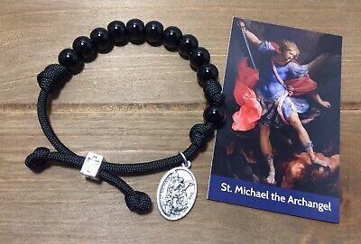 Saint Michael Paracord Rosary Bracelet | Men/Women Catholic rosary handmade Catholic Rosary Bracelets