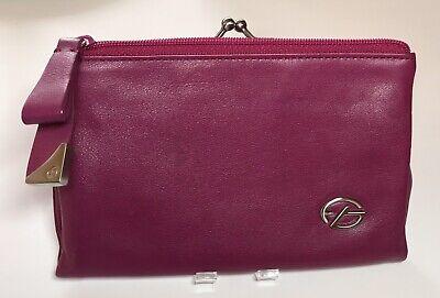 Leather Soft Pda Case - Francesco Biasia Soft Leather Jewelry Travel Case purse wallet organizer .
