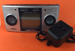 Sharper Image Big Screen Clock Radio Sound Soother Therapy 20 Power Cord Si1564