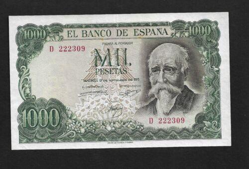 Spain p-154, XF+, 1000 Pesetas, 1971