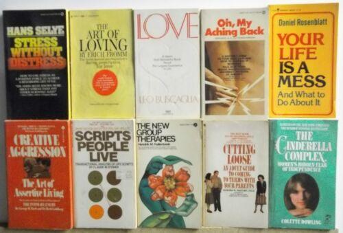 Lot of 10 Books PSYCHOLOGY SELF HELP SEX ADVICE Free US S/H Read List Lot #H492
