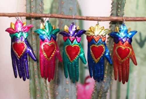 Lg Tin Hand Earrings like Frida