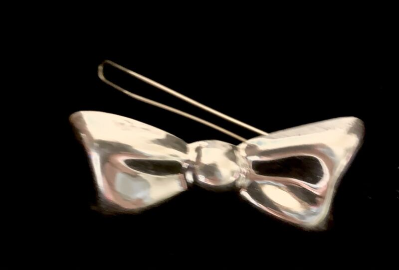 """Vintage  Mexico TM-96 925 Sterling silver """" Bow Hair Barrette."""